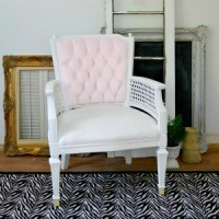Velvet painted chair furntiure makeover 300x