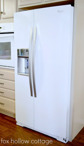 White Whirlpool Gold Series Counter Depth Fridge - foxhollowcottage.com