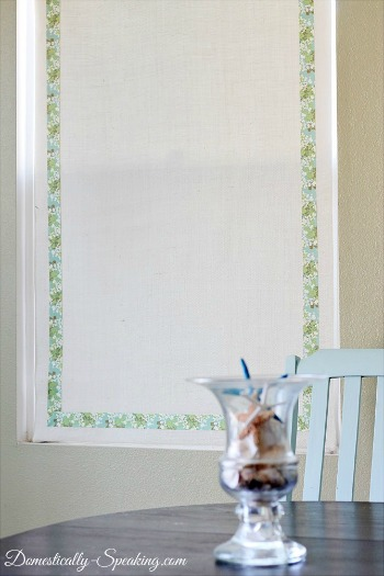 Burlap Roller Shade DIY Window Covering