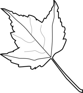maple-leaf-outline-burlap-craft-printable