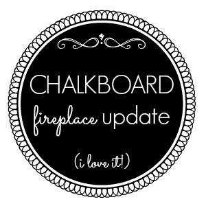 Chalkboard Paint Fireplace Mantel Makeover