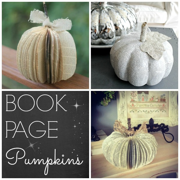 Make it: with these DIY Book Page Pumpkin Ideas | #pumpkin #pumpkinidea #bookpage