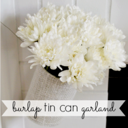 Burlap and Tin Can Garland Craft