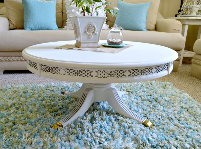 Duncan Phyfe Table #paintedfurniture #makeover