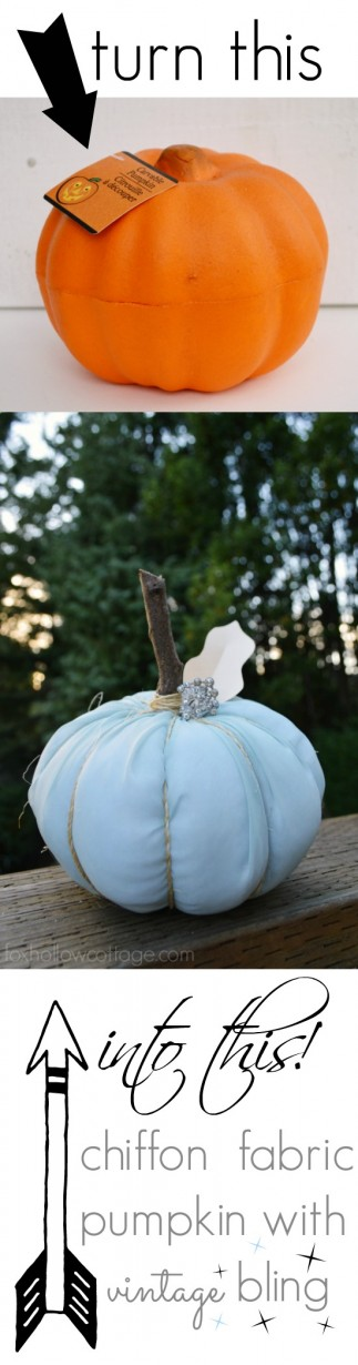 Make a Vintage Chiffon Fabric Pumpkin