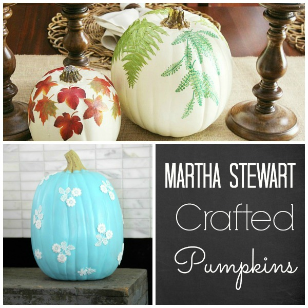 No-carve alternative: #marthastewart Pumpkin Craft Ideas | #pumpkin #pumpkinideas #nocarvepumpkin