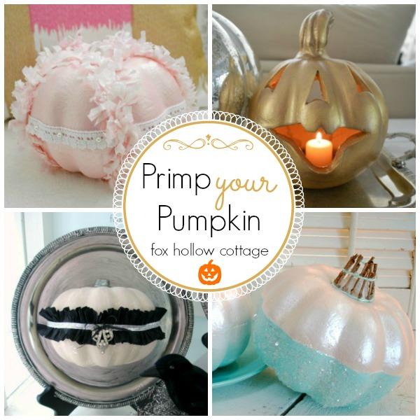 Primp Your Pumpkin Halloween Fall Pumpkin Decorating Ideas