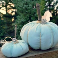 Shabby Chiffon No Sew Fabric Pumpkin Craft