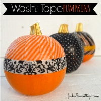 Washi Tape Pumpkin diy Tutorial