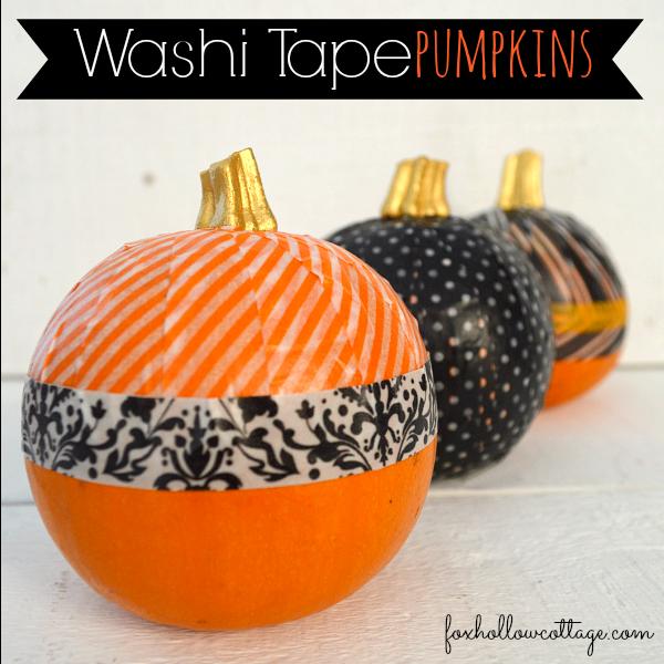 Washi Tape Pumpkin diy Tutorial