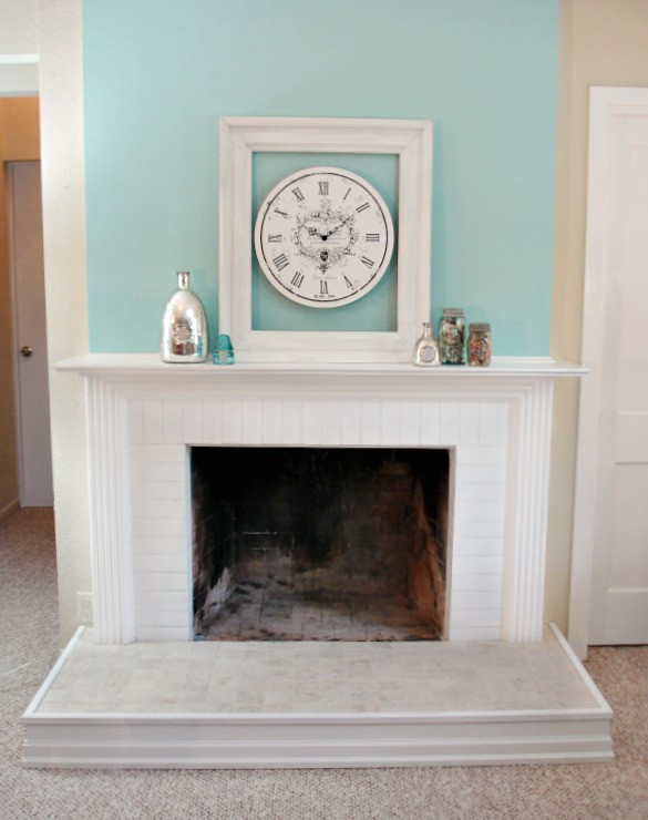 after fireplace makeover -Shanno Fox - foxhollowcottage.com