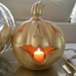 Gilded, Gold and Glam Organza Pumpkin Makeover