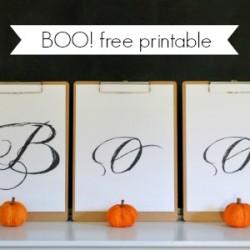 BOO Printable Halloween Clipboard Art Decoration