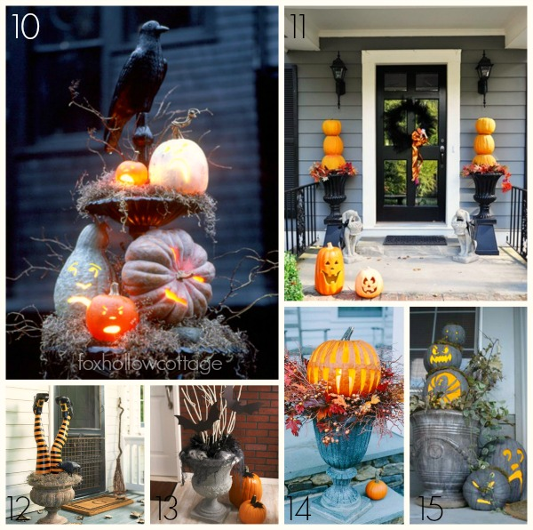 Decorating With Urns Halloween Edition-Spooky, Bat Pumpkin and Crows