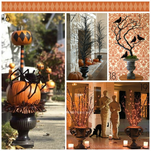 Deocrating with Urns Halloween Edition Black and Orange