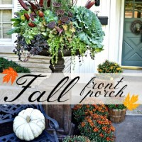 Fall Front Porch Urn Decor Autumn Decorating fi