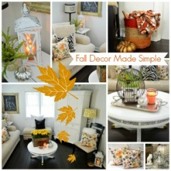 Fall decor made simple - easy affordable decorating tips