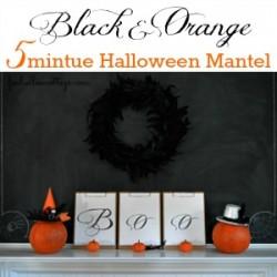 Five Mintue Halloween Mantel foxhollowcottage