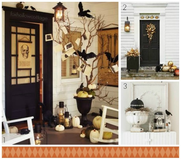 Halloween Front Porch Mantle Urn Decorating