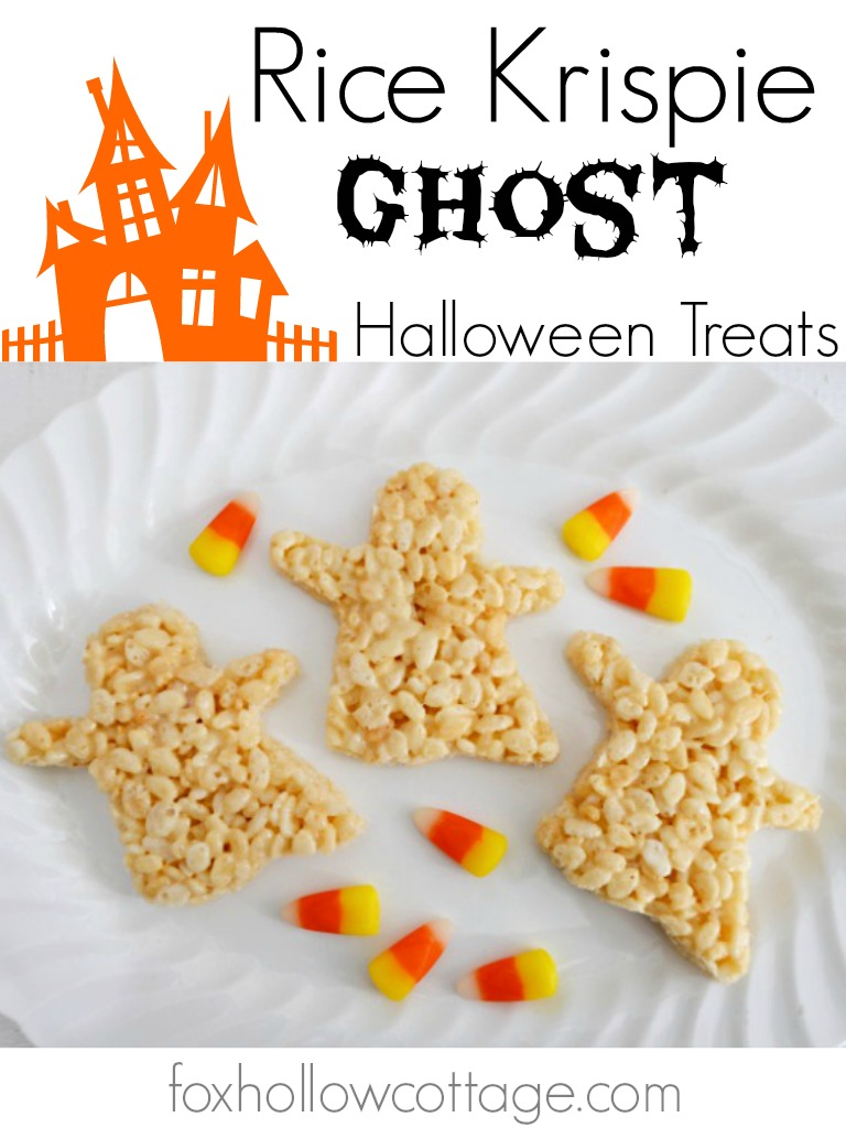 Halloween Ghost Treat Rice Krispie Crispy Dessert