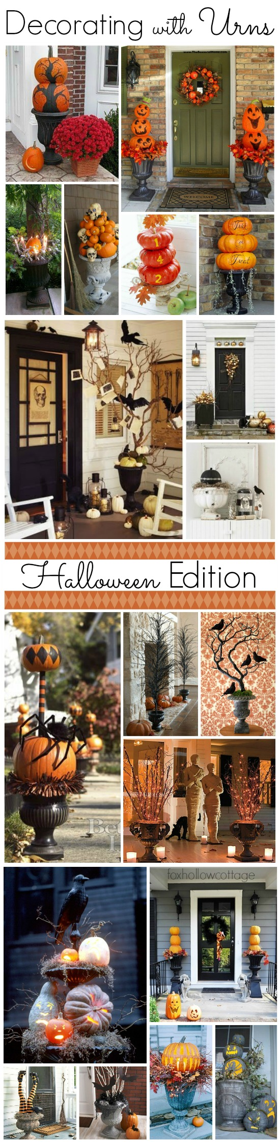 decorating with urns the halloween edition   fox hollow