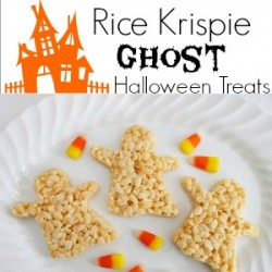 Rice Krispie Crispy Ghost Dessert Treats