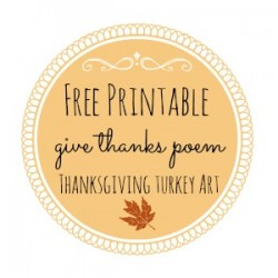 Thanksgiving Free Printable Series – The Turkey Poem