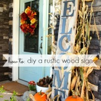 diy a rustic wood sign tutorial