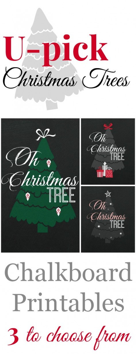 Christmas Chalkboard Printables - 3 to choose from