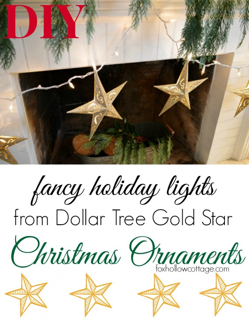 Dollar Tree Christmas Ornament Fancy DIY Lights
