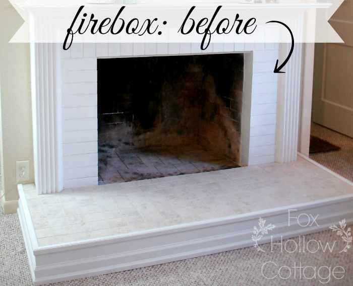 Fireplace Firebox - Before #diy #fireplace