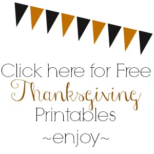 Free Thanksgiving Printables at foxhollowcottage