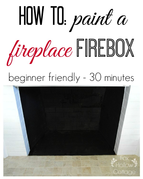 How to paint a fireplace firebox - Easy fireplace DIY makeover update