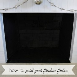 How To Paint Your Fireplace Firebox fi