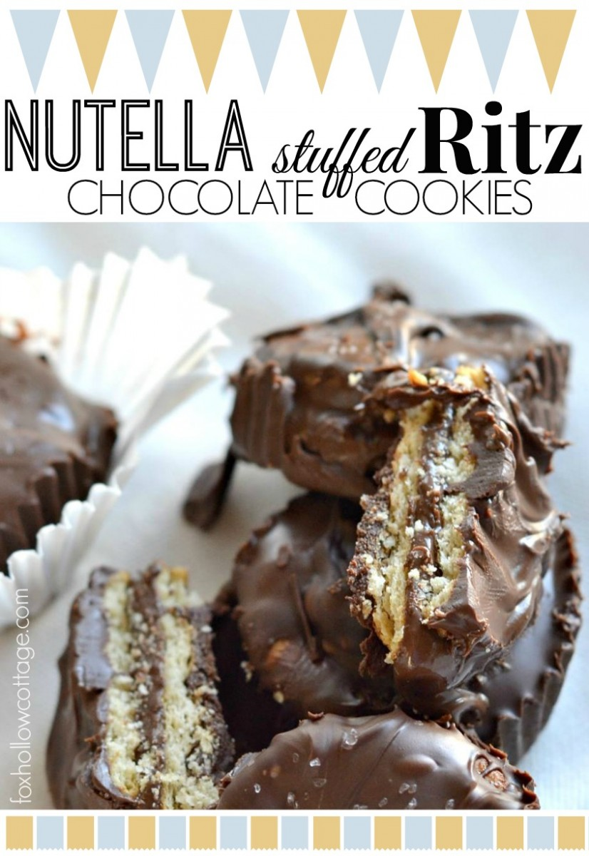 Nutella Stuffed Ritz Cracker Chocolate Candy Cookies