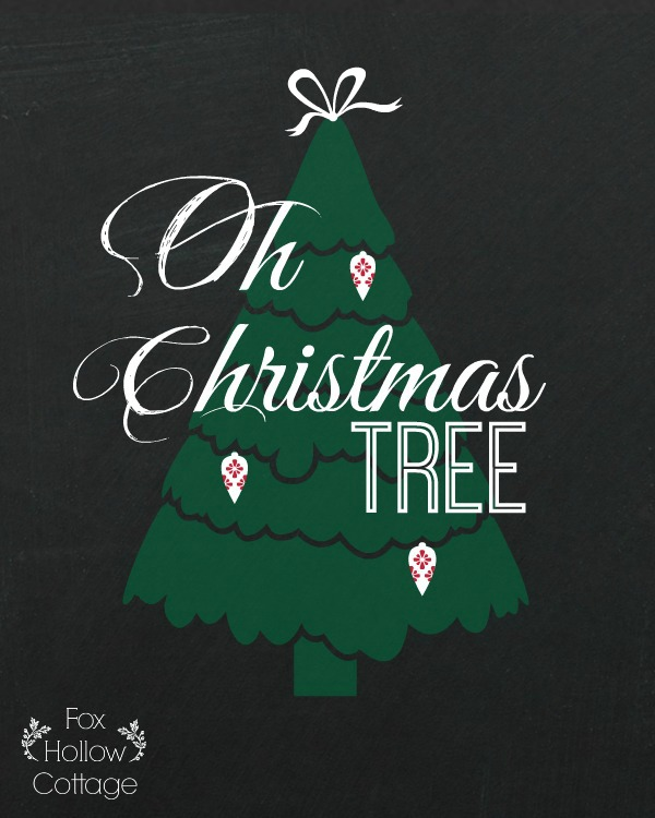 Christmas Printable - Oh Christmas Tree - Green 8 x 10 | #Christmas #Printable