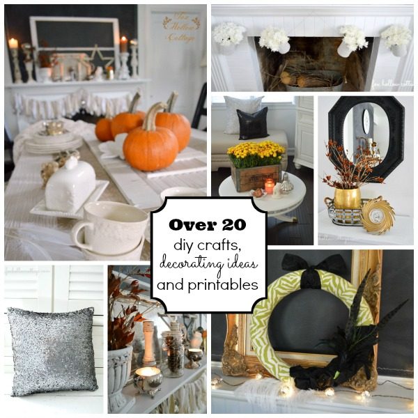 Over 20 Fall and Thanksgiving printables, diy crafts and decorating ideas