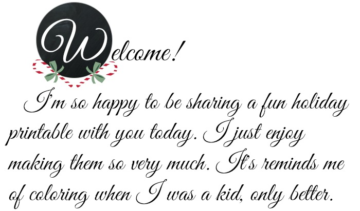 Printable Welcome Candy Canes