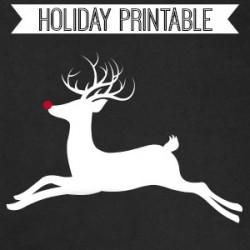 Rudolph Chalkboard Printable fi