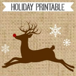 Christmas Printable Rudolph fi