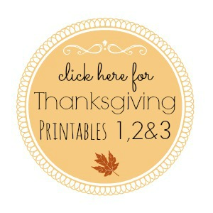 Thanksgiving Printable Series foxhollowcottage