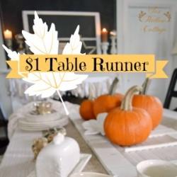 One Dollar Thanksgiving Table Runner