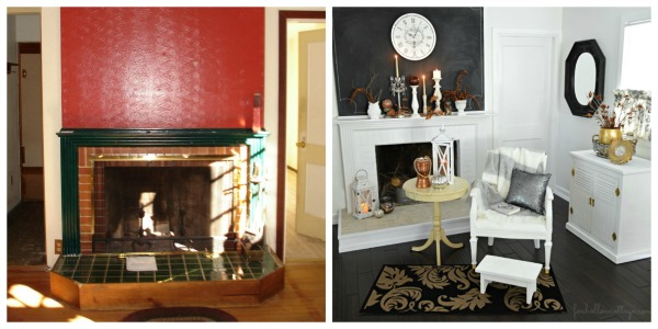 DIY Budget Fireplace Before and After Makeover | #diy #fireplace