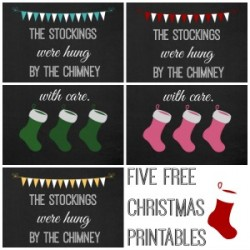 Christmas Stocking Chalkboard Printable