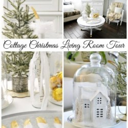 Cottage Christmas Living Room Tour fi