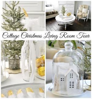 Cottage Christmas Living Room Tour fi
