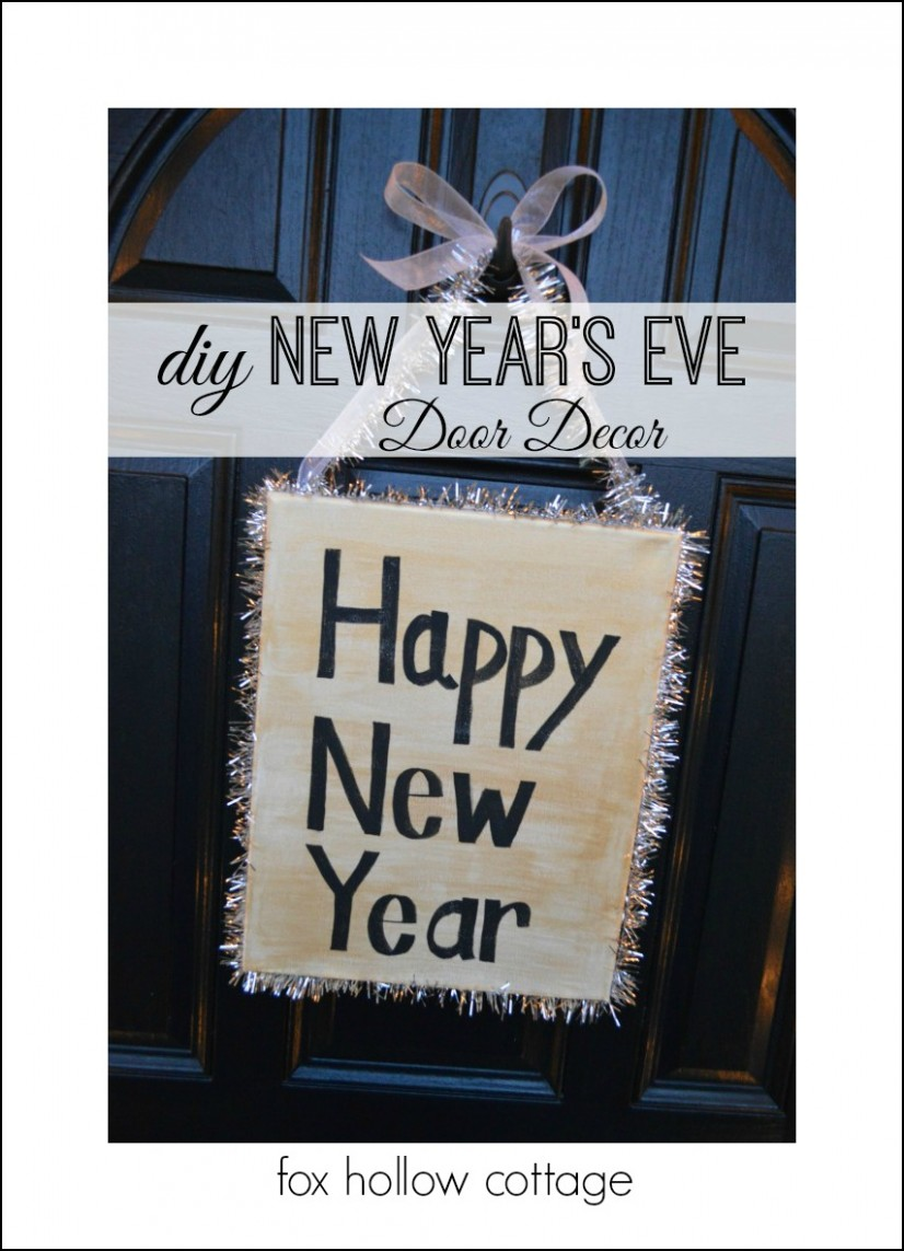 Happy New Year: Diy Door Decoration Wreath Alternative Craft