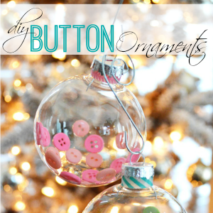 Diy Button Filled Christmas Tree Ornaments fi