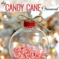 Diy Candy Cane Clear Glass Christmas Ornament Craft fi