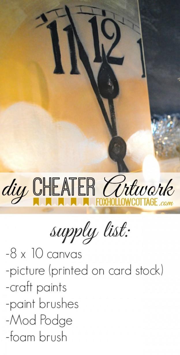 Diy Cheater Artwork Craft Project Supplies